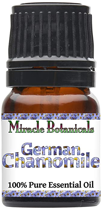 Miracle Botanicals German (Blue) Chamomile Essential Oil - 100% Pure Matricaria Chamomilla - Therapeutic Grade - 2.5ml