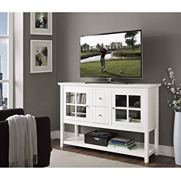 Charmant 53u0026quot; Modern Extra Tall TV Stand In White Finish