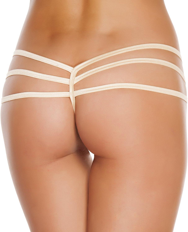 Roma Womens Triple Strapped String Back Bottom