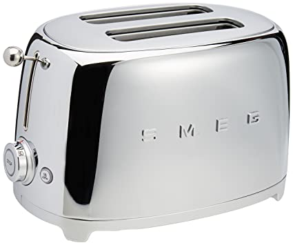 Amazon Com Smeg 2 Slice Toaster Chrome Home Kitchen