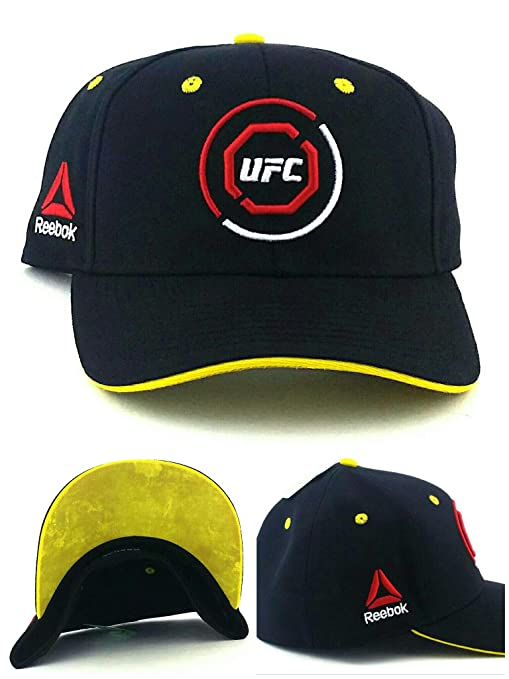 6267eae40c5c6 Amazon.com : UFC Reebok RBK MMA Black Red Yellow Octagon Fighters ...