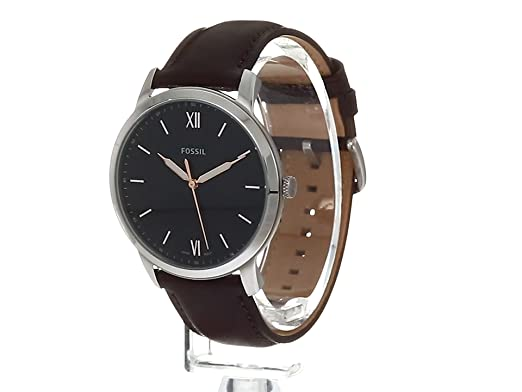 Amazon.com: Fossil The Minimalist Three-Hand Brown Leather Watch FS5464: Watches