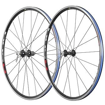 Shimano WH-R501 - Ruedas de bicicleta, color negro con etiqueta roja: Amazon.es: Deportes y aire libre
