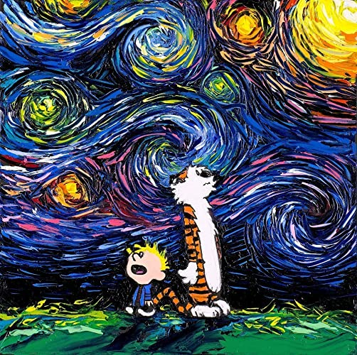 Amazon.com: Calvin and Hobbes Inspired Art CANVAS print What If van ...