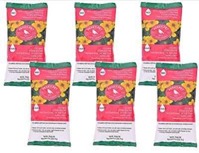 Perky-Pet 6-Pack Instant Hummingbird Nectar Concentrate Each Pack Makes 48 oz.