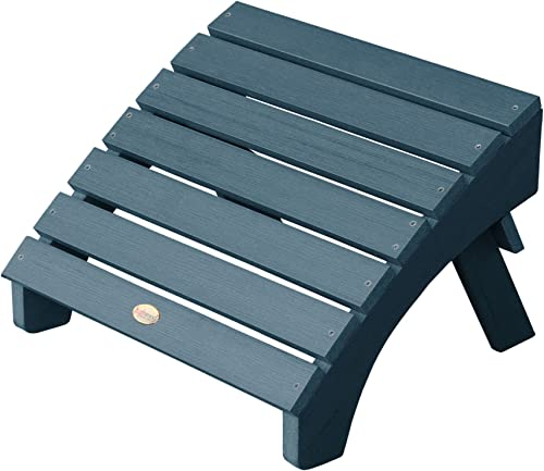 Highwood AD-OTL1-NBE Folding Adirondack Ottoman, Nantucket Blue