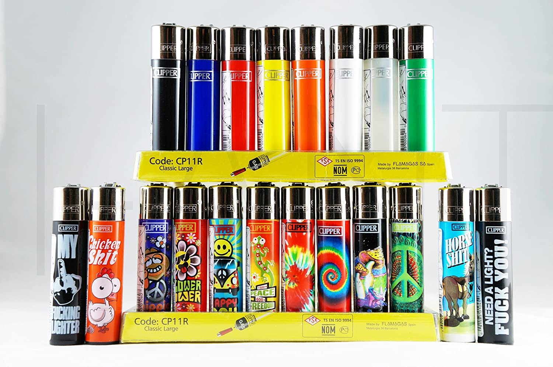 20 Brand New Full Size Refillable Original Clipper Lighters