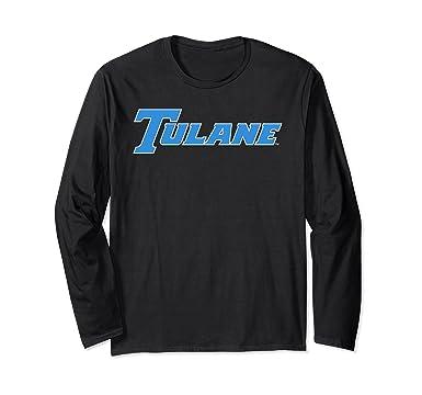 1fe5558ccd9 Unisex Tulane Green Wave College NCAA Long Sleeve T-Shirt PPTUL05 Small  Black