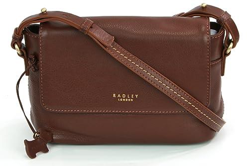 b7a3ad97a7306 Radley Leather Cross Body Bag 'Chatsworth' Brown RRP £169.00: Amazon ...