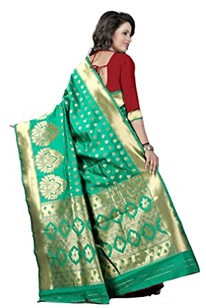ad3f6f70da New Indian/Pakistani Ethnic Designer Multi Color Banarasi Silk Party  Wedding Saree 750 (Brown