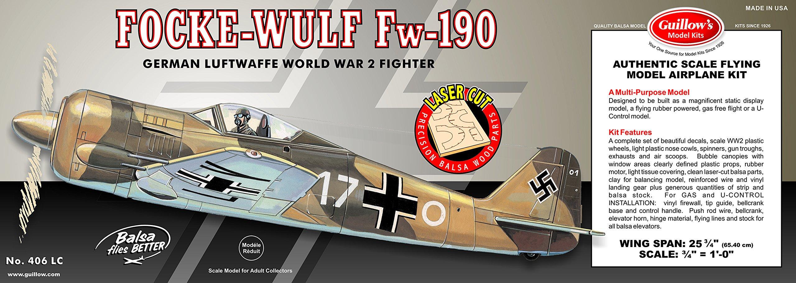 Guillow's Focke-Wulf FW-190 Laser Cut Model Kit
