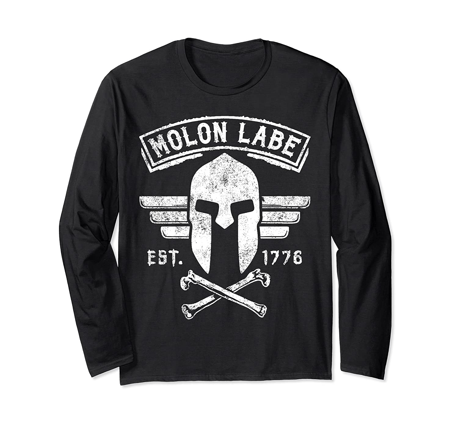 MOLON LABE LONG SLEEVE TSHIRT, 2ND AMENDMENT T-SHIRT-alottee gift