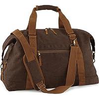 BagBase Vintage Canvas Weekender , Shopper, Einkaufstasche, Umhängetasche, Schultertasche, Kult brown