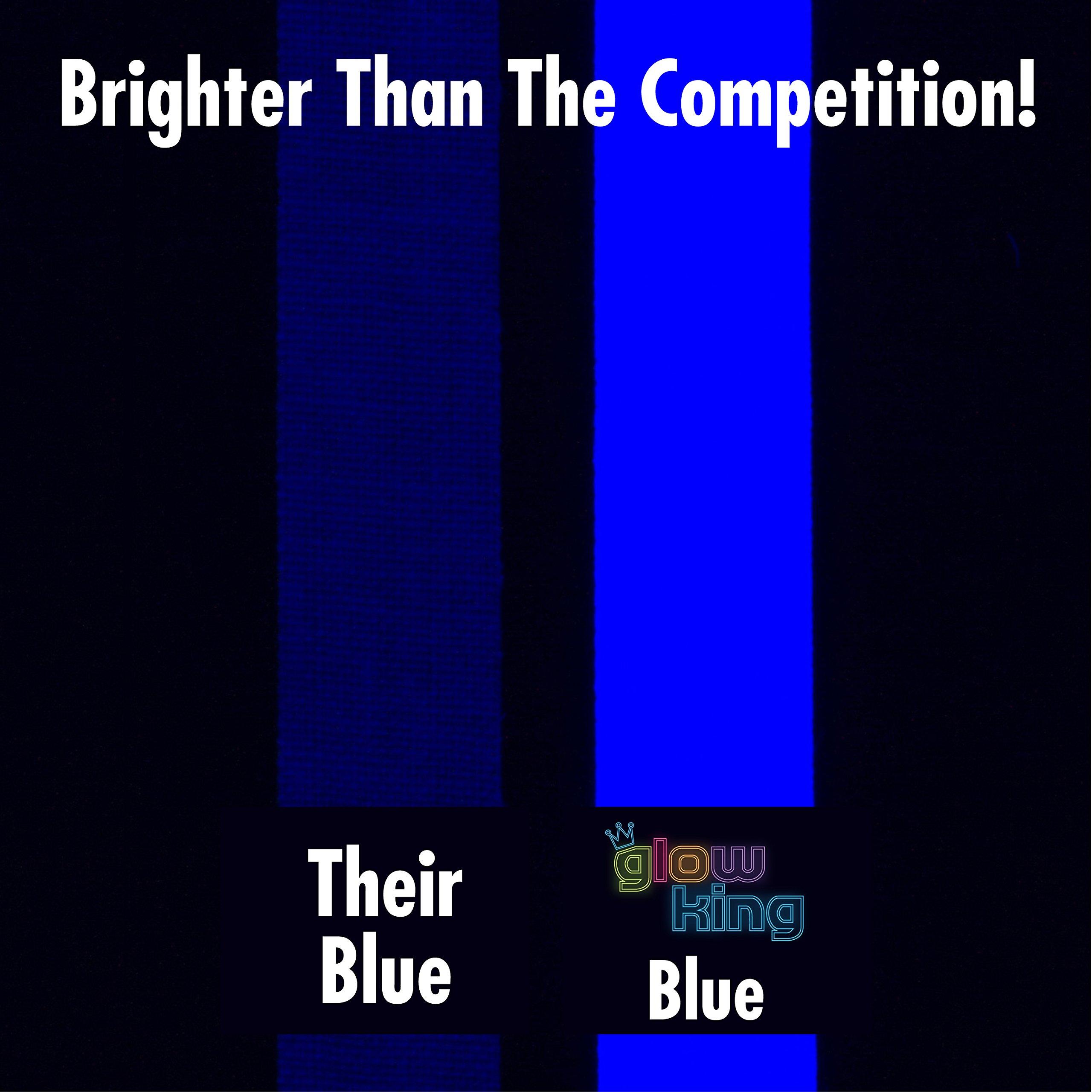 5-Pack SUPER BRIGHT UV Blacklight Reactive Fluorescent / Neon Gaffer Tape Matte Finish by Glow King (Image #5)