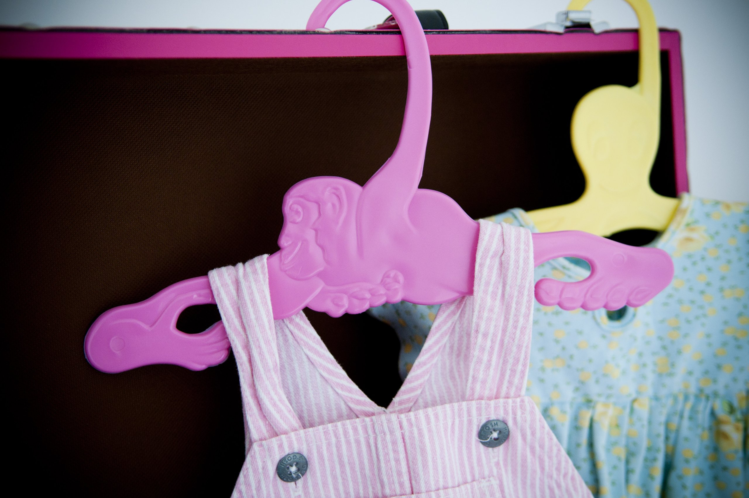 Baby Animal Hangers, 4-Pack, Pink