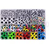 1620pcs Googly Wiggle Eyes Self Adhesive, for Craft Sticker Eyes Multi Colors and Sizes for DIY by ZZYI