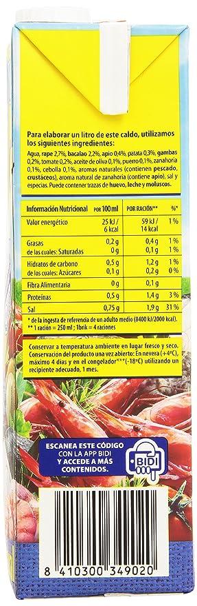 Gallina Blanca - Caldo casero de pescado - 100% natural - 1 l ...