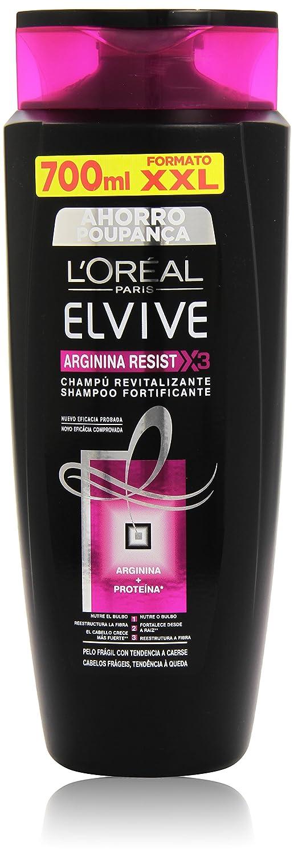 LOréal Paris Elvive Arginina Resist X3 Champú Revitalizante para Pelo Frágil con Tendencia de Caerse - 70 cl: Amazon.es: Amazon Pantry