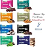 Square bar Organic protein bar, All variety! pack of 8 + 1 Bonus clip from Glutenfree4U