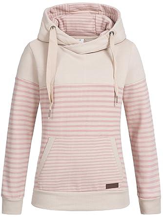 Sublevel Damen D1074L01736A Sweatshirt Kapuzen-Jacke Zip-Hood aus  Hochwertiger Baumwollmischung Meliert  Amazon.de  Bekleidung 78e79558f7