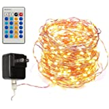 Dimmable Led String Lights Copper Wire 40ft 120LED Starry Light with UL certified Power Adapter For Wedding Party, Christmas Centerpiece, Garland, Wreath, indoors or outdoors ¡