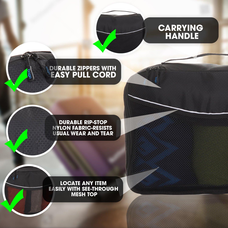Cubos de embalaje, organizador - Individual Medio Con Protector (Black): Amazon.es: Equipaje