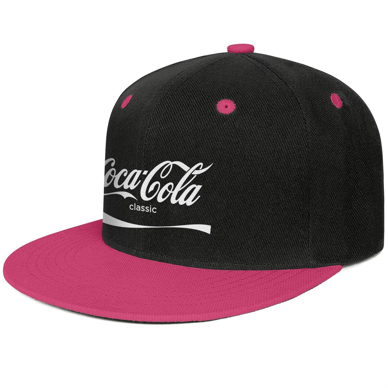 Coca Cola Classic Snapback Flat Cap Plain 100% Cotton Hat Rugged Dad Unisex Mens Women Caps by WSXYUOFAZ