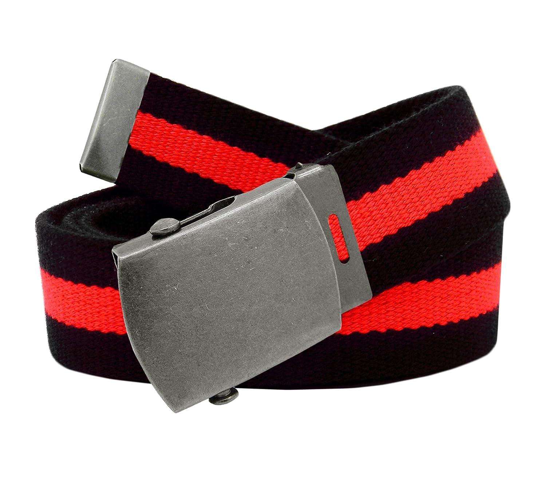 89276c23aef5d ... Girls School Uniform Antique Silver Slider Belt Buckle with Canvas Web  Belt 8010G-$P ...