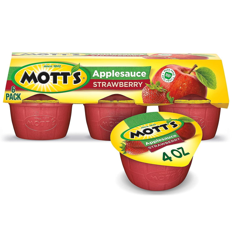Mott's, Applesauce Strawberry, 24 oz, (pack of 6)