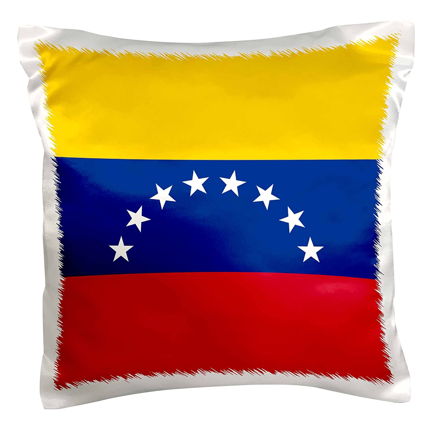 3dRose pc/_159824/_1 Flag of Venezuela Venezuelan Golden Yellow Blue Red with White Stars South America Country World Pillow Case 16 x 16