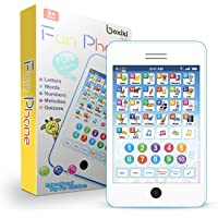 Learning Pad Fun Phone with 6 Toddler Learning Games by Boxiki Kids | Touch and Learn Interactive Tablet for Number…