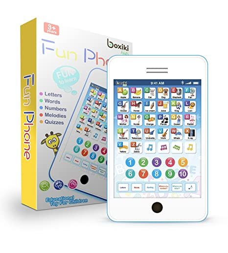 26e738f323fdc Amazon.com  Learning Pad   Fun Phone with 6 Toddler Learning Games ...