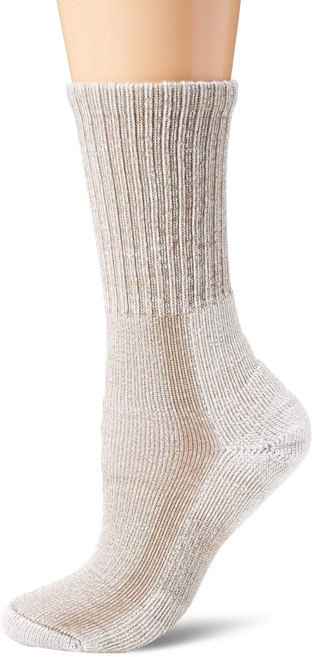 Thorlos Women's LTHW Max Cushion Hiking Crew Socks, Khaki, Small by thorlos