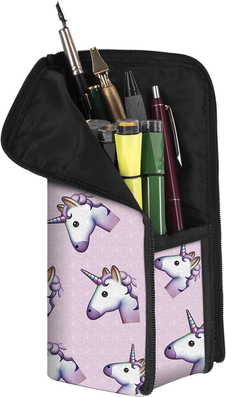 Fringoo - Estuche para útiles escolares (diseño unisex), color Emoji Unicorn Pink - Transformer: Amazon.es: Oficina y papelería