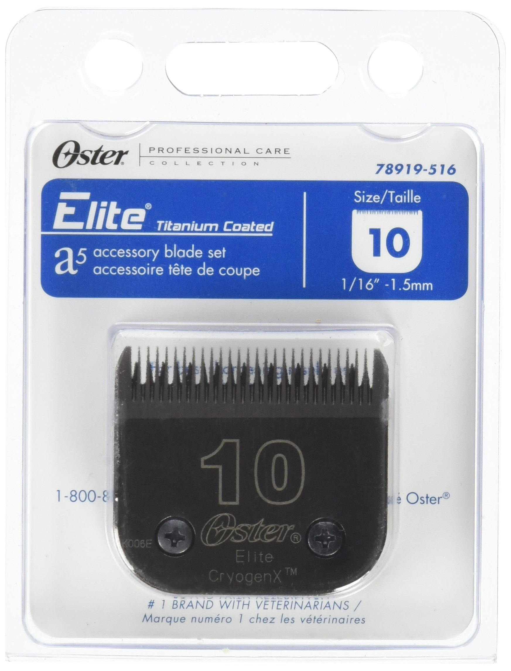 Oster Elite CryogenX Professional Animal Clipper Blade, Size 10 (078919-516-005) by Oster (Image #1)