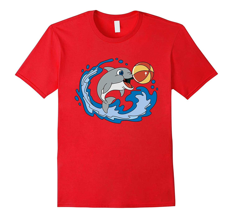Dolphin Emoji T-shirt Emoticon Sea Blue Cute Manatee Tshirt-TD