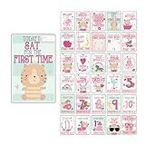 Baby Milestone Cards UK Girl Baby Shower Gifts Girl, New Baby Girl Gifts