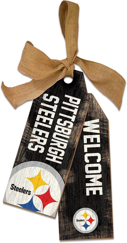 NFL Pittsburgh Steelers Unisex Pittsburgh Steelers Team Tags, Team Color, 12 inch