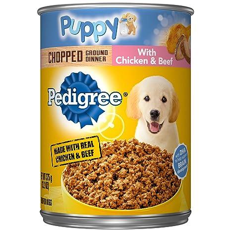 Pedigree Puppy Chopped Ground Dinner With Chicken Beef Adult
