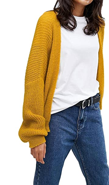 buy online 901ec 5b8f4 ASOS DONNA SENAPE MORBIDI strappati cardigan aperto davanti ...