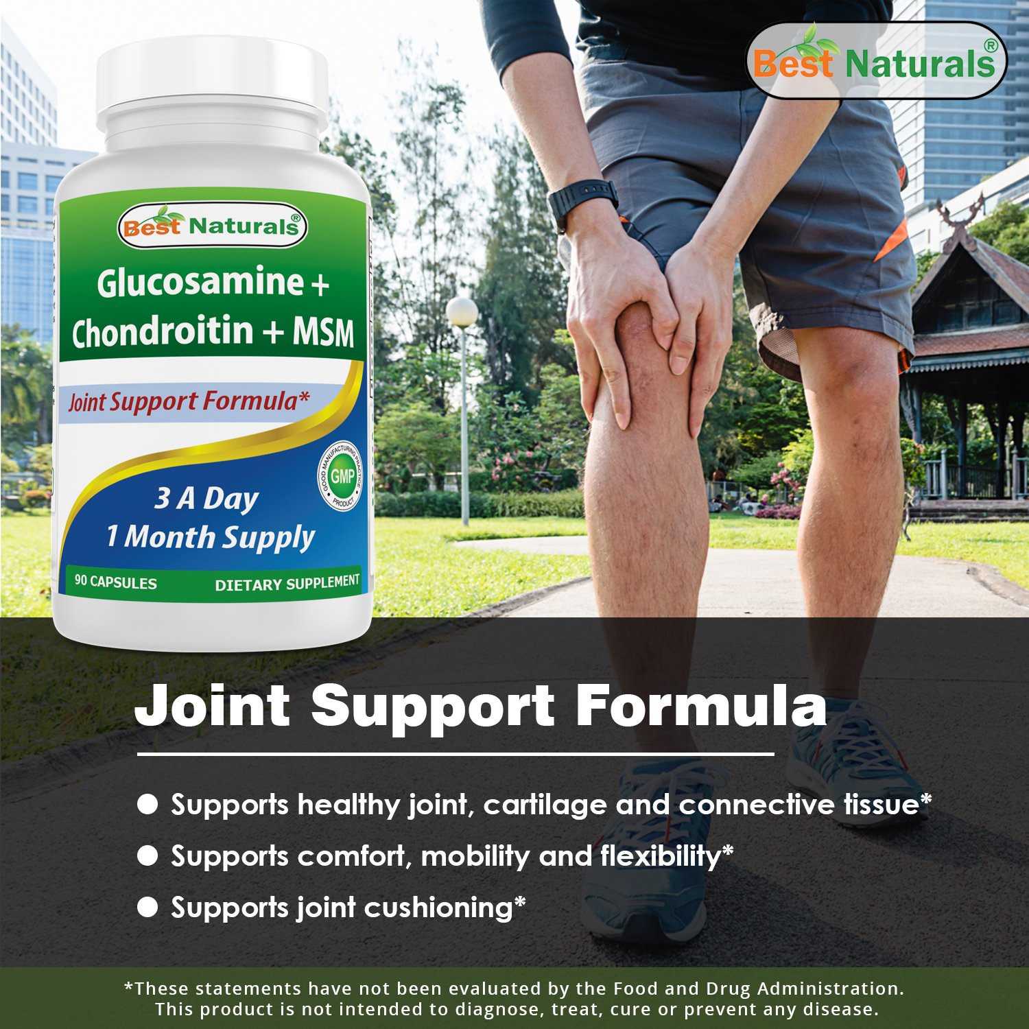 Best Naturals Glucosamine Chondroitin And Msm Joint Pain Puritan Pride Triple Strength 90 Caps Relief Supplement Count Health Personal Care