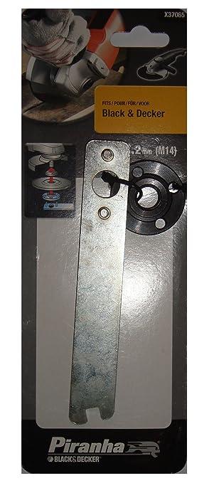 Black+Decker X37065-XJ - Llave y tuerca para esmeriladoras angulares pequeñas Black+