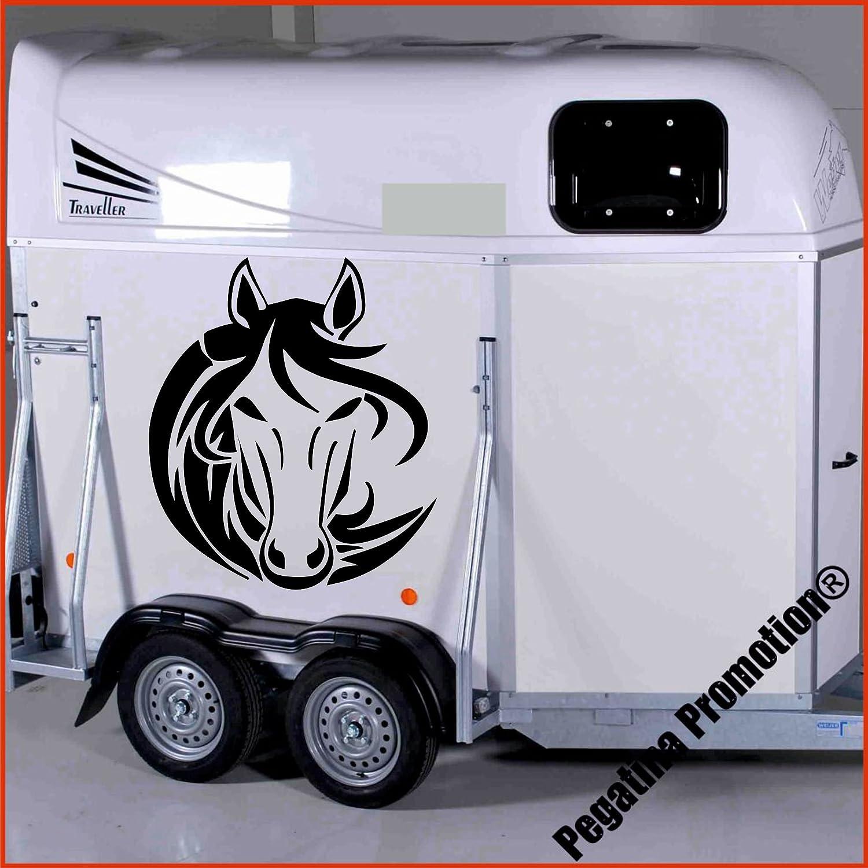 Pferdekopf Tribal Modell 2 Aufkleber Anhänger Pferd Anhänger ca. 60cm Pegatina Promotion ®