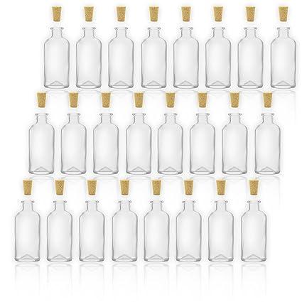 ba10eec91a 24 aggrava bottiglie con tappo in vetro bottiglie/100 ml/10 cl bottiglie  vuote in vetro da riempire/ubriacare bottiglie per spezie, liquori, etc.