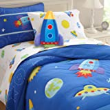 Wildkin Kids Rocket Plush Throw Pillow for Boys and Girls, Made from Soft, Microfiber Material, Features Embroidered Details, Design Coordinates with Our Bedding Sets and Room Décor