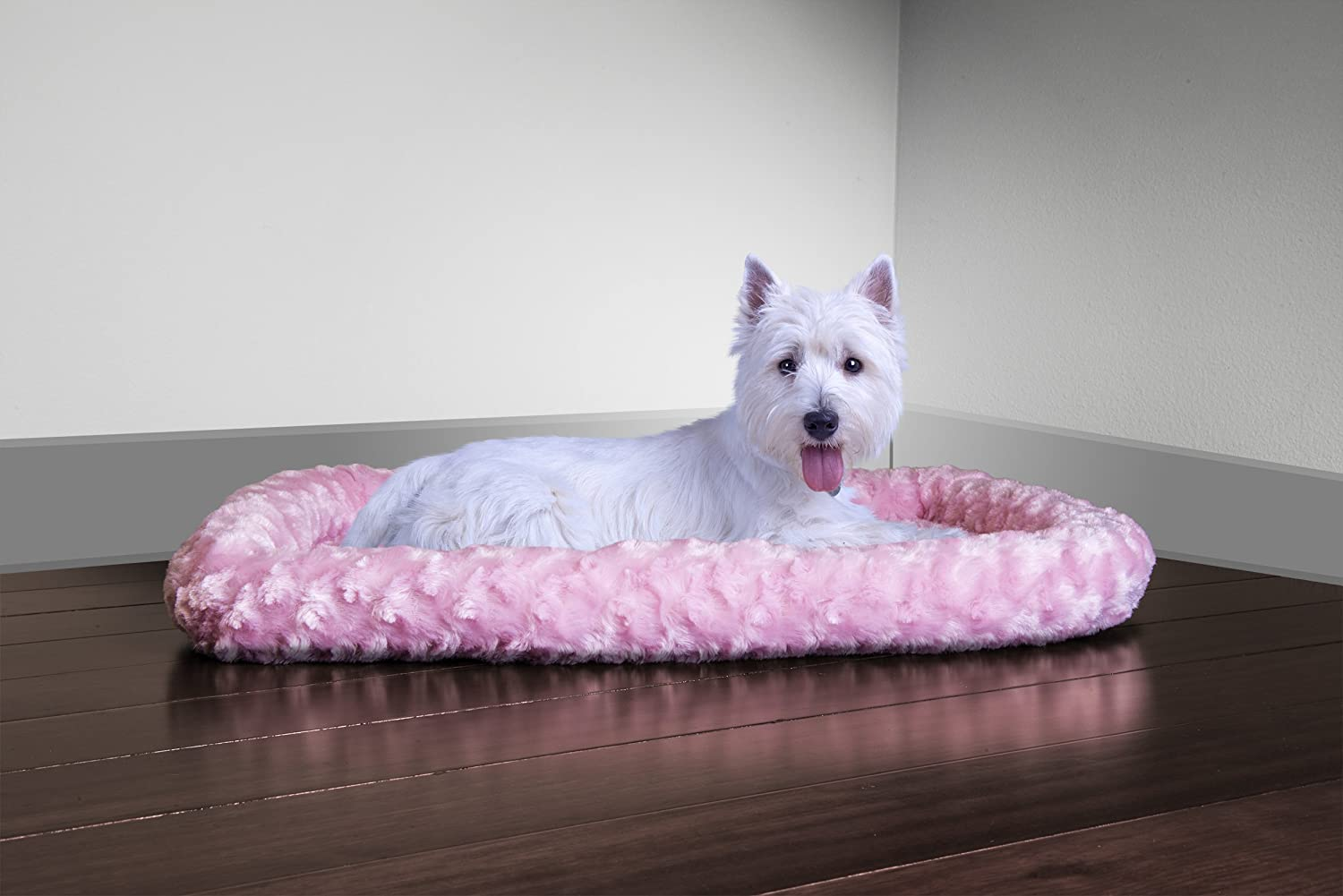 Fur Haven Nap Ultra Plush Bolster for Kennels and Crates, Small, Strawberry Fits: 18 X 24 39235354