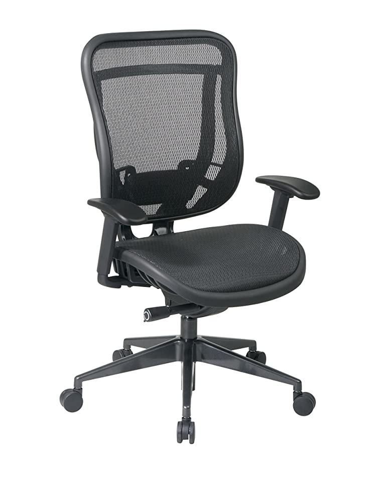 SPACE Seating Breathable Mesh High Back and Seat, Ultra 2-to-1 Synchro Tilt Control, Seat Slider and Gunmetal Finish Executive Chair