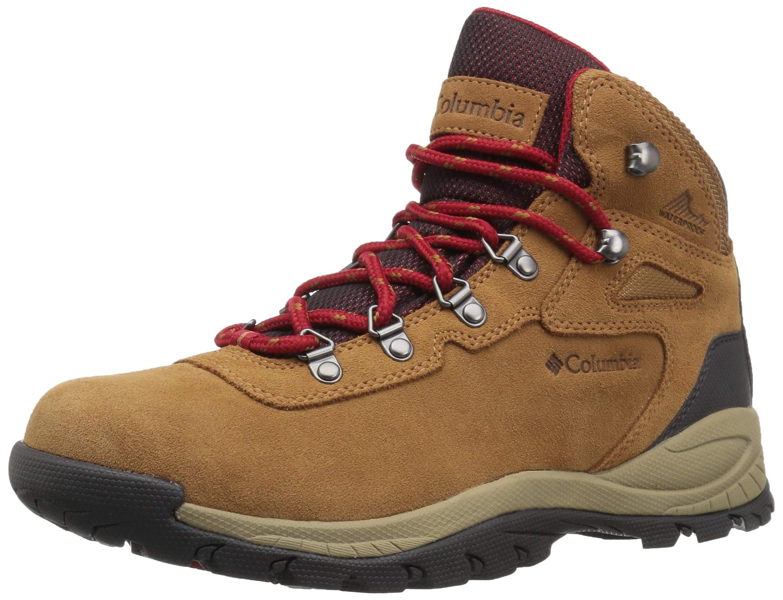 Columbia Women's Newton Ridge Plus Waterproof Amped Hiking Boot, Elk, Mountain Red, 7.5 Wide US