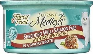 Fancy Feast Elegant Medleys Shredded Wild Salmon Fare Gourmet Cat Food