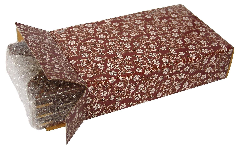 Fatto a mano in legno scatola del tessuto portatovaglioli cover con intarsi in ottone e interno in velluto 25,4/x 15,2/cm